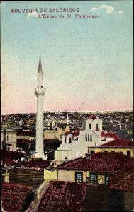 Ak Thessaloniki Griechenland, L'Eglise de St. Pantheleon
