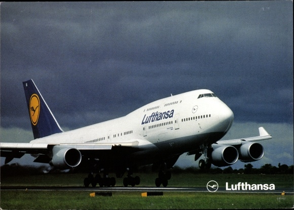 Ak Lufthansa Boeing 747 400, Passagierflugzeug