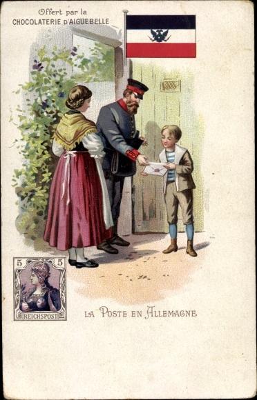 Briefmarken Litho La Poste en Allemagne, Briefträger