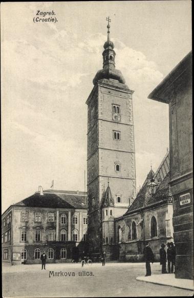 Ak Zagreb Kroatien, Markova ulica