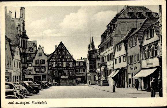 Ak Bad Kissingen Unterfranken Bayern, Marktplatz
