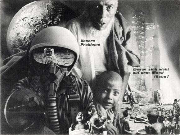 Ak Unsere Probleme lassen sich nicht auf dem Mond lösen, Saturn V, Pilot, Astronaut, Hungersnot