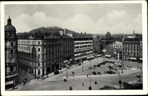 Ak Brno Brünn Südmähren, Freiheitsplatz, Moravska Banka
