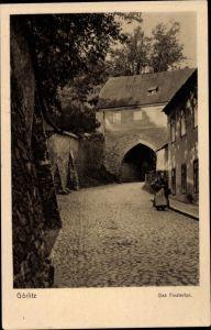 Ak Görlitz in der Lausitz, das Finstertor
