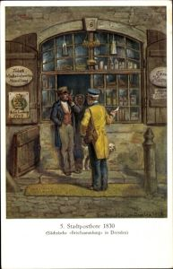 Künstler Ak Müller, Gustav, Stadtpostbote 1830