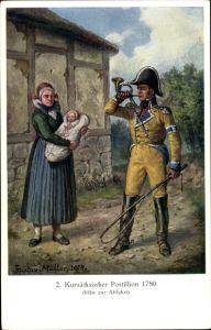 Künstler Ak Müller, Gustav, Kursächsischer Postillon 1780