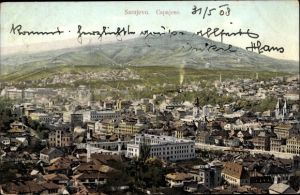Ak Sarajevo Bosnien Herzegowina, Panoramablick auf die Stadt