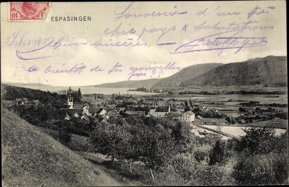 Ak Espasingen Stockach Baden Württemberg, Panorama vom Ort