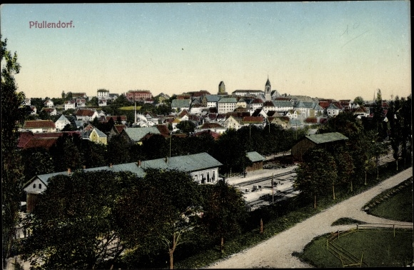 Ak Pfullendorf in Baden Württemberg, Panorama vom Ort