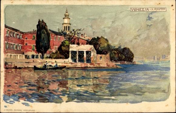 Künstler Litho Wielandt, Manuel, Venezia Venedig Veneto, S. Lazzaro
