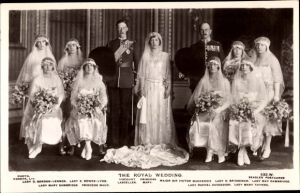 Ak The Royal Wedding, Princess Mary, Viscount Lascelles, Major Sir Victor Mackenzie