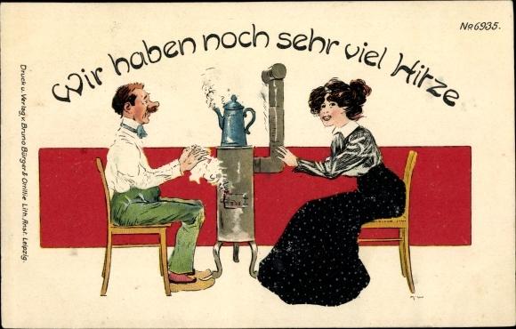 Litho Wir haben noch sehr viel Hitze, Ehepaar, Bürger & Ottilie 6935