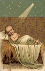 Ak Frohe Weihnachten, Glückwunsch Neujahr, Christkind, Jesuskind