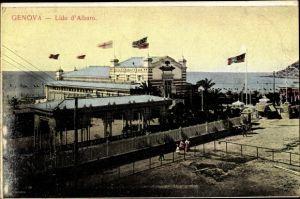 Ak Genova Genua Ligurien, Lido d'Albaro