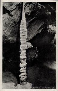 Ak Iserlohn im Märkischen Kreis, Dechenhöhle, Palmengrotte, großer Stalagmit