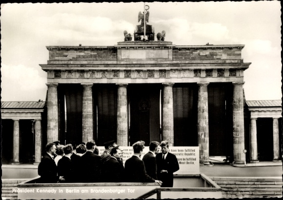 Ak Berlin, John F. Kennedy, Brandenburger Tor, Staatsbesuch