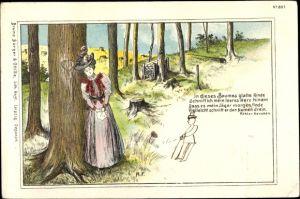 Künstler Litho Liebesgedicht von Ernst Köhler Haußen, Bürger & Ottilie 897