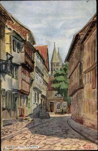 Künstler Ak Halberstadt in Sachsen Anhalt, Klein Blankenburg
