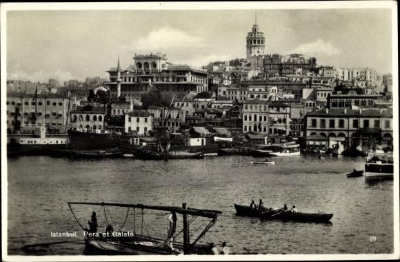 Ak Konstantinopel Istanbul Türkei, Pera et Galate