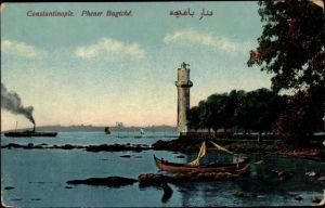 Ak Konstantinopel Istanbul Türkei, Phener Bagtché, Leuchtturm