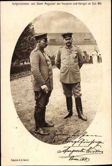 Ak Kaiser Wilhelm II., Generalfeldmarschall Paul von Hindenburg