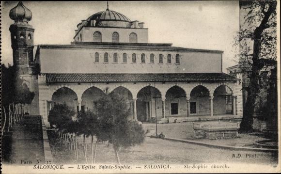 Ak Thessaloniki Griechenland, L'Église Sainte Sophie
