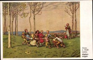 Künstler Ak v. Volkmann, Hans, Kinderreigen
