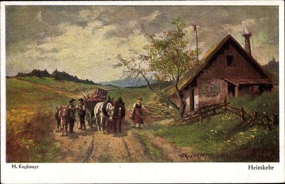 Künstler Ak Kuglmayr, M., Heimkehr