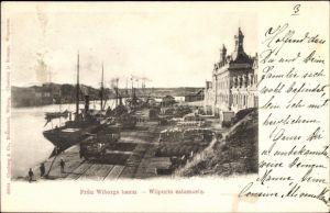 Ak Wyborg Wiborg Viipuri Russland, Fran Wiborga hamn, Hafen