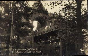 Ak Berlin Kreuzberg, Bahnhof Gleisdreieck, Hochbahn, Hausdurchfahrt