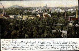 Ak Görlitz in der Lausitz, Teilansicht vom Ort, Blick v. d. Ruhmeshalle aus