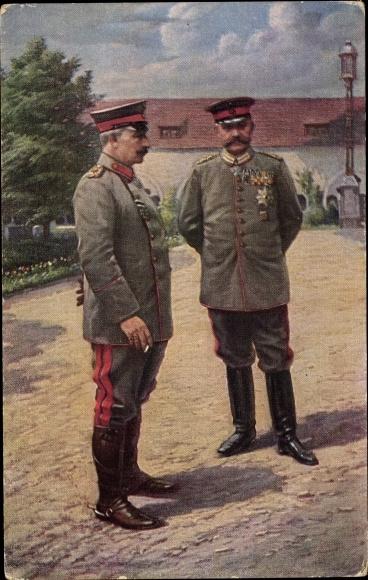 Ak Poznań Posen, Kaiser Wilhelm II., Generalfeldmarschall Paul von Hindenburg