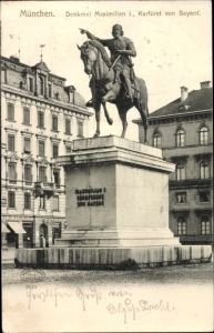 Ak München Bayern, Denkmal Maximilian I.