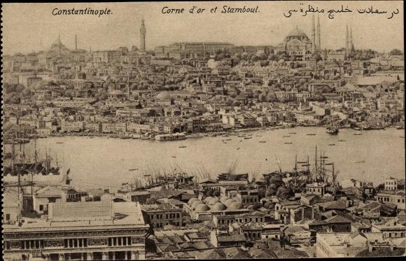 Ak Konstantinopel Istanbul Türkei, Corne d'Or, Stadtpanorama