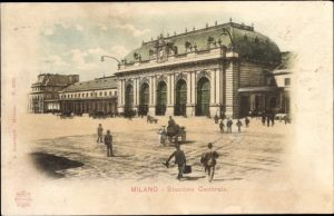 Ak Milano Mailand Lombardia, Stazione Centrale, Bahnhof