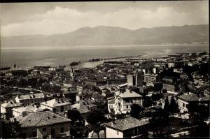 Ak Rijeka Fiume Kroatien, viduta generale, porto, Adria, montagne