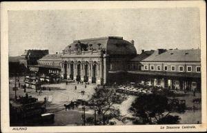 Ak Milano Mailand Lombardia, La Stazione Centrale, Bahnhof
