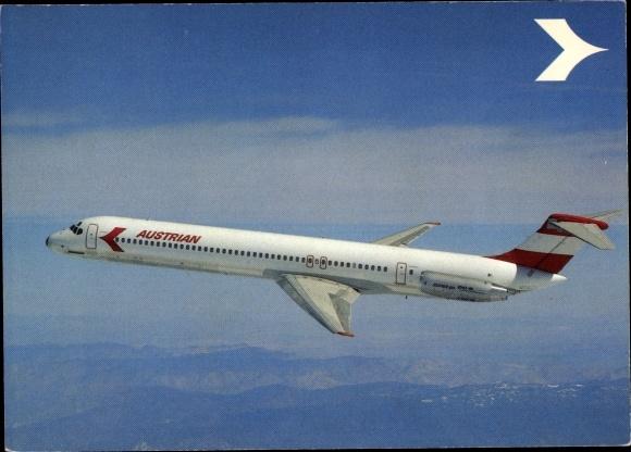 Ak Douglas DC-9 Super 80, MD-80, Austrian Airlines, Passagierflugzeug