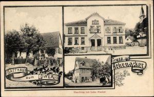 Ak Hohenacker Waiblingen, Schulhaus, Rathaus, Gasthaus zum Löwen, Handlung von Luise Fischer