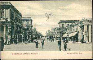Ak Montevideo Uruguay, Entrada a la calle 18 de Julio