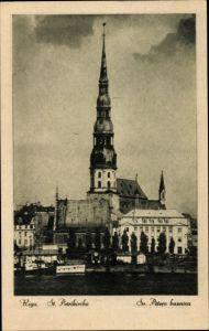 Ak Riga Lettland, St. Petrikirche