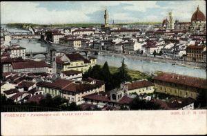Ak Firenze Florenz Toscana, Panorama dal Viale dei Colli