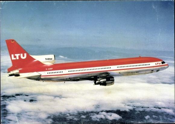 Ak Lockheed Tristar L-1011-1, LTU, Passagierflugzeug, D-AERP