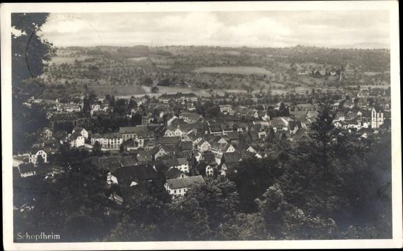 Ak Schopfheim in Baden Württemberg, Panorama vom Ort
