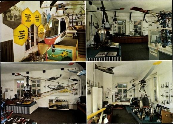 Ak Hubschraubermuseum Bückeburg, Innenräume, Rettungshubschrauber, Modelle