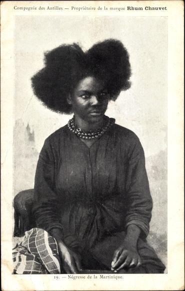 Ak Martinique, Portrait einer jungen Frau, Rhum Chauvet