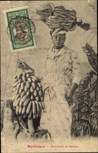 Ak Martinique, Marchande de Bananes