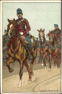Künstler Ak Koch, Ludwig, Kuk Soldaten, Reiter