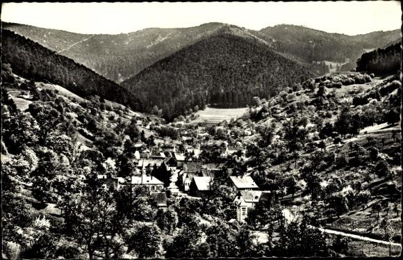 Ak Eschbach au Val Elsass Haut Rhin, Vue générale