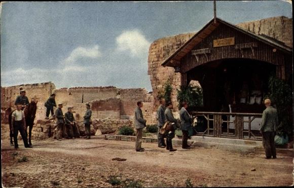 Ak Sainte Marie à Py Marne, Bayernkapelle, Pavillon m. Altar, Kriegszerstörungen, I. WK
